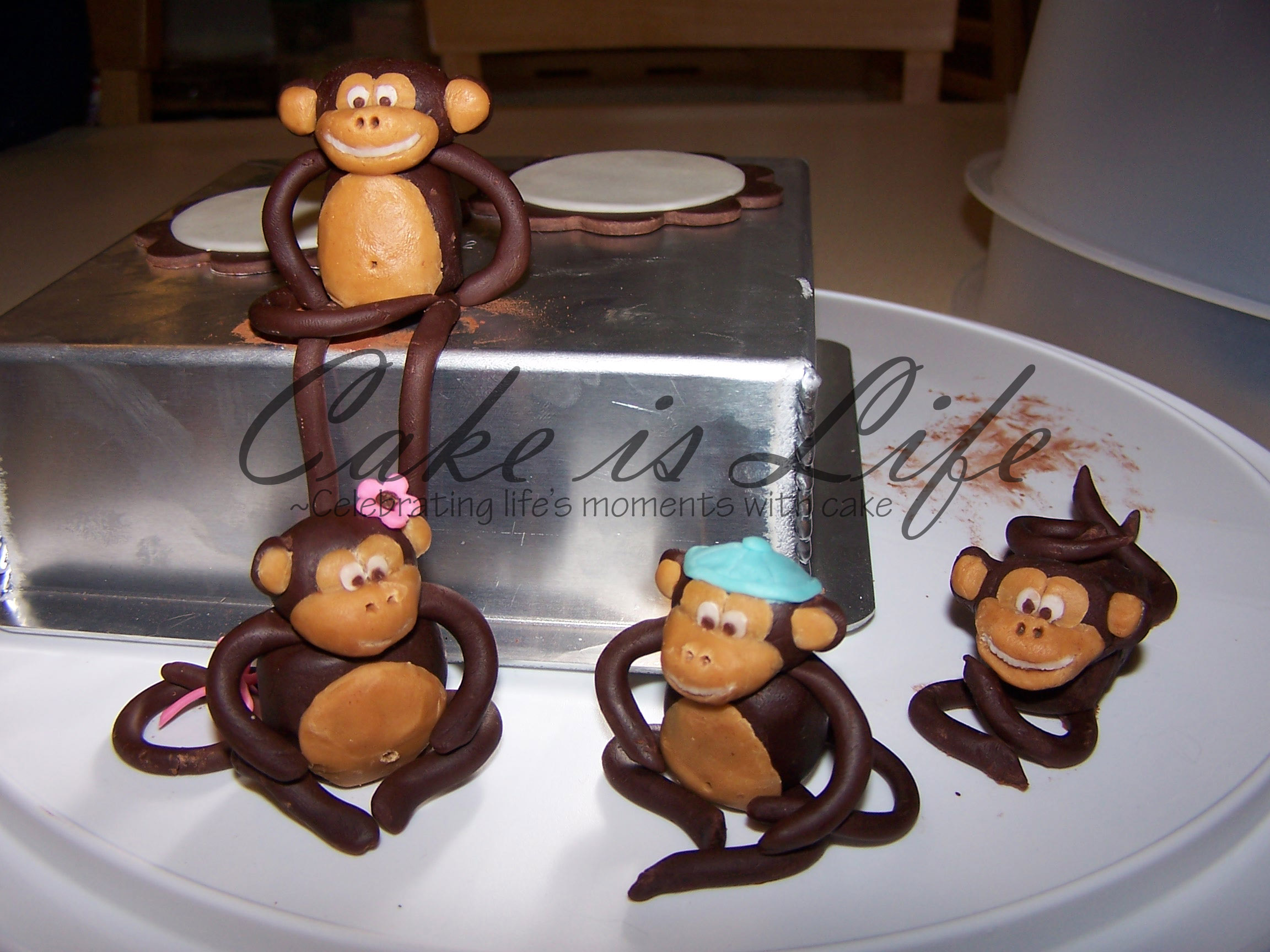 Modeling Chocolate Monkeys | Cake Is Life