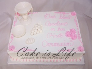 Caroline's First Communion Cake