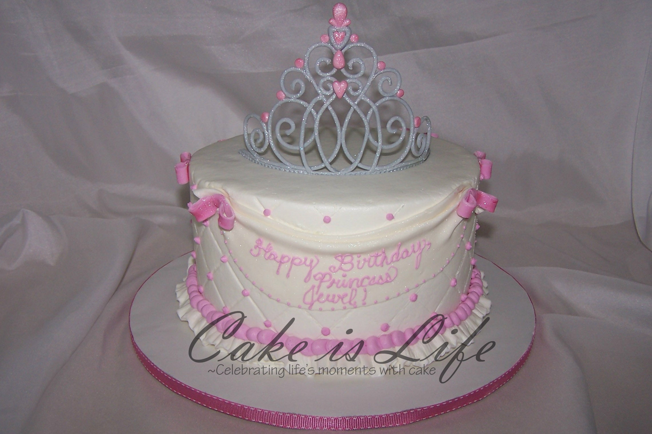 Birthday Cake Pictures Of Princess : Pin Princess Crown Birthday Cake Ajilbabcom Portal Cake on ...