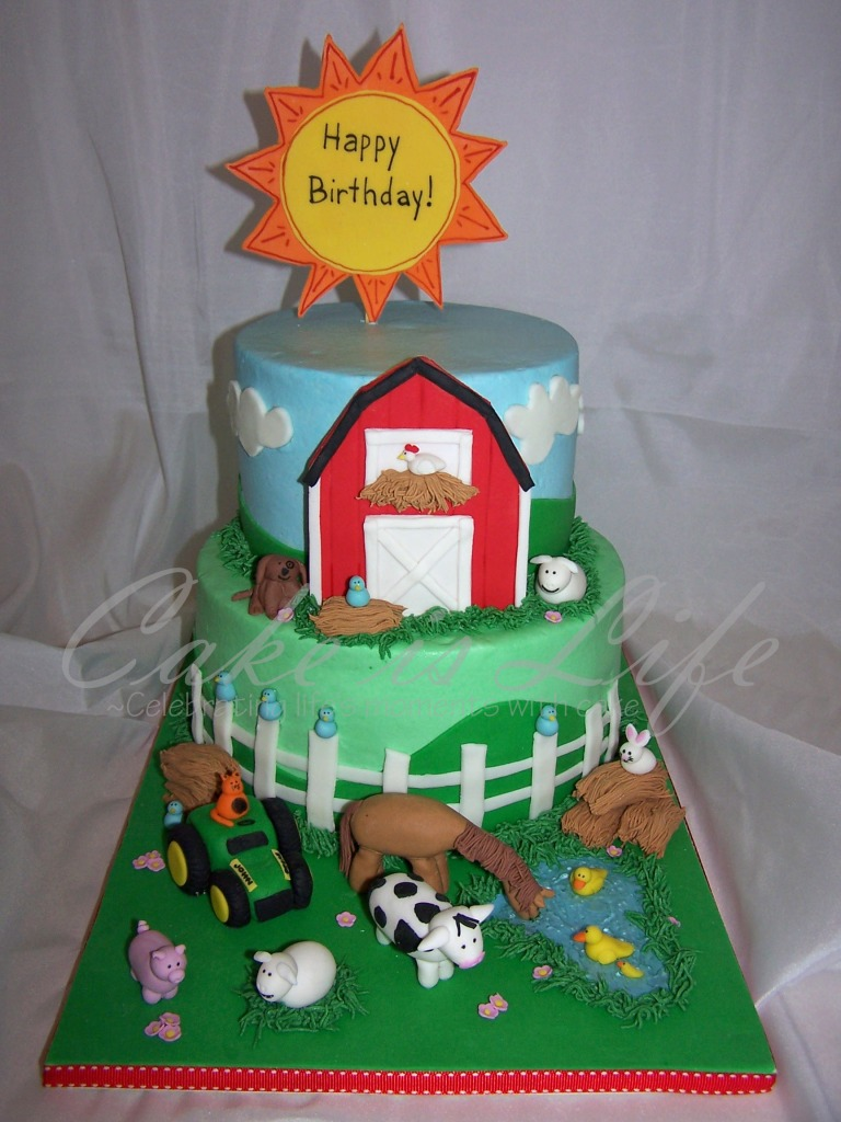 Swell Farm Themed Birthday Cake Cake Is Life Funny Birthday Cards Online Sheoxdamsfinfo