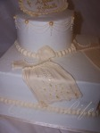 Close-up of Baptism Cake