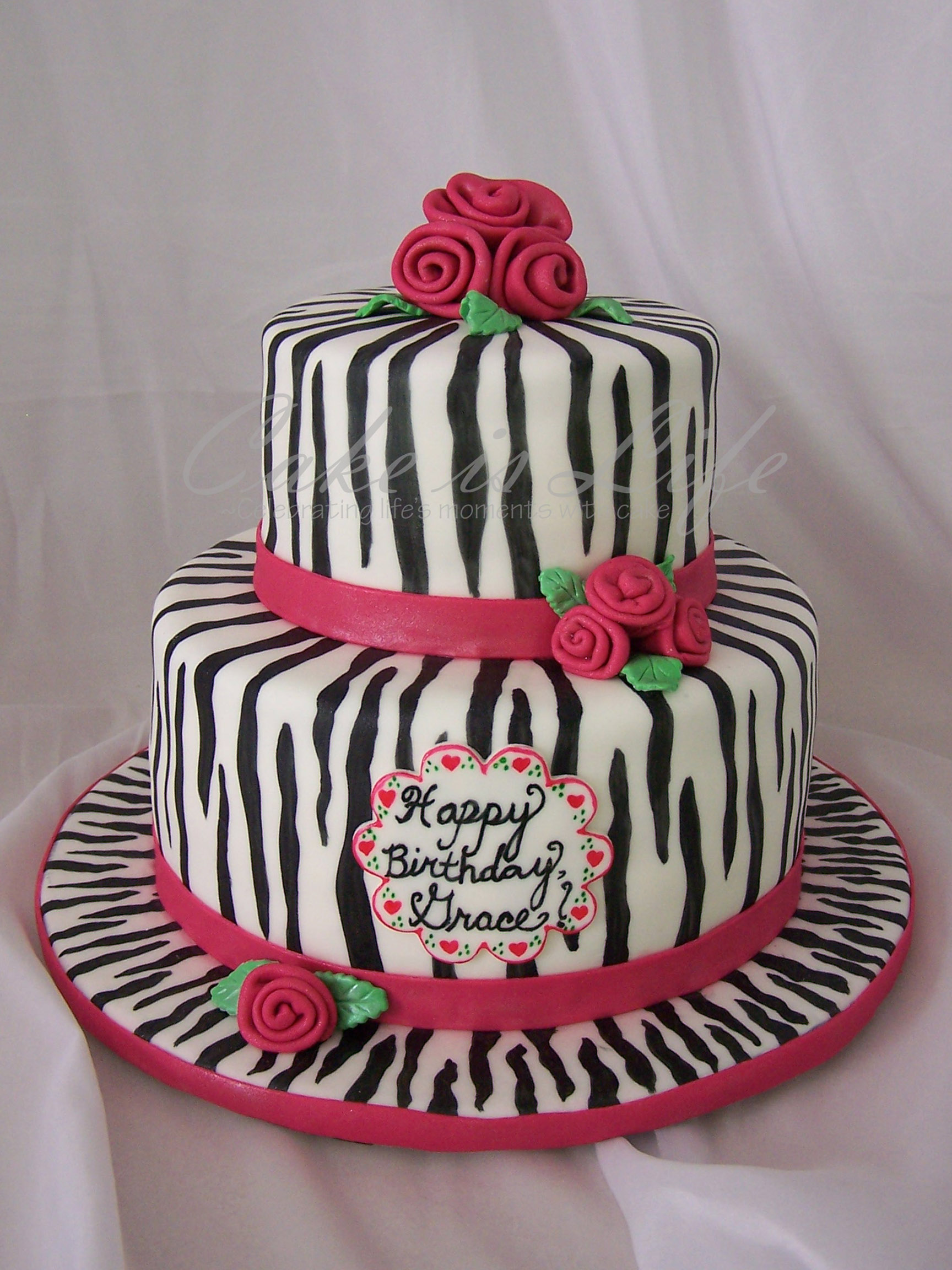 Girly Zebra Birthday Cake Cake Is Life