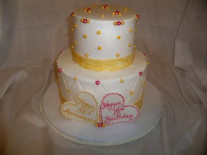 50th Anniversary & 19th Birthday Cake