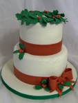 Holly-day Party Cake