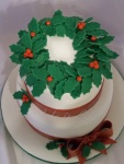 Top view of Holiday Cake