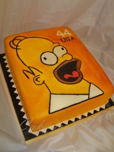 Homer Simpson Groom's Cake