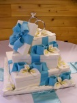 Another view of the Gift Box Wedding Cake