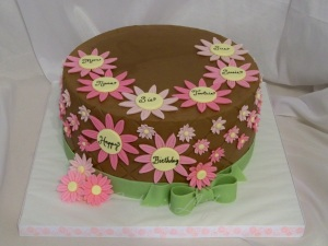 Daisy Birthday Cake