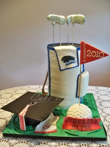 Golf Bag Graduation Cake