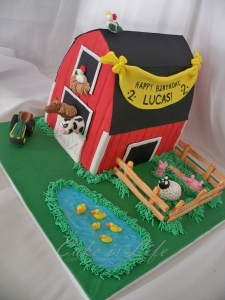 Barn Birthday Cake