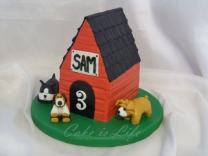 Doghouse Birthday Cake