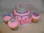 Pink Birthday Cake & Cupcakes