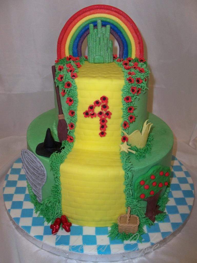 Incredible Wizard Of Oz Birthday Cake V 1 Cake Is Life Birthday Cards Printable Riciscafe Filternl