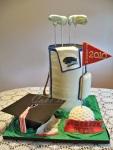 Golf Bag Graduation Cake