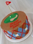 Golf Tee Birthday Cake