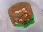 Fall Leaves Birthday Cake