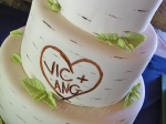 Birch Tree Cake Close-up
