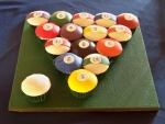 Pool Ball Cupcake Groom's Cake