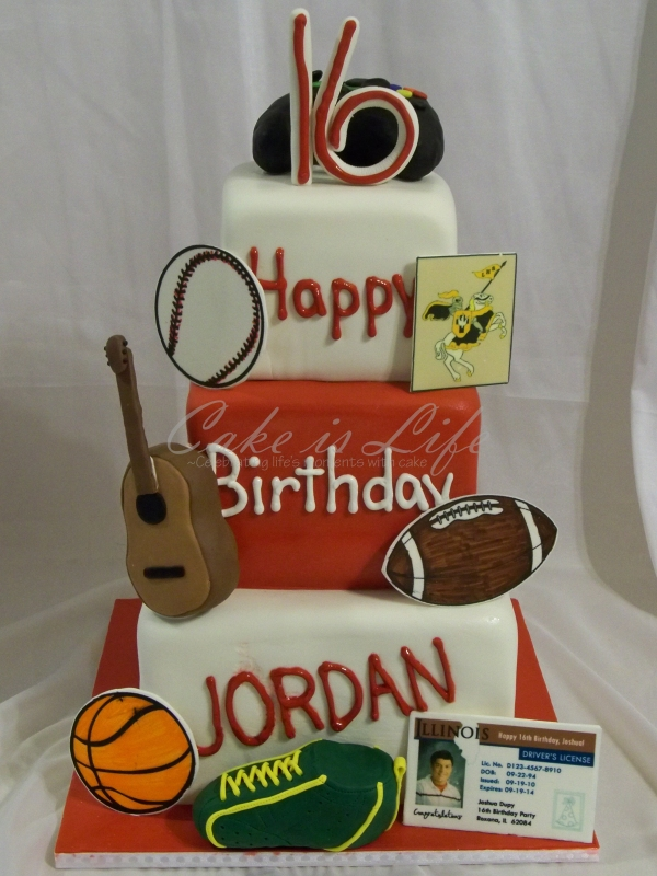 All-About-Me Birthday Cake
