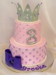Pink Princess Crown Birthday Cake