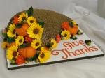 Cornucopia Thanksgiving Cake