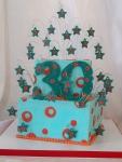 Stars & Circles 30th Birthday Cake