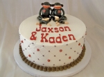 Sock Monkey Twins Shower Cake