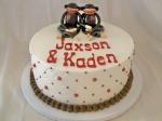 Sock Monkey Twins Shower Cake