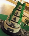 Damask St. Patrick's Day Wedding Cake
