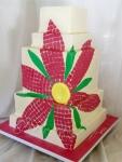 Daisy Mosaic Cake