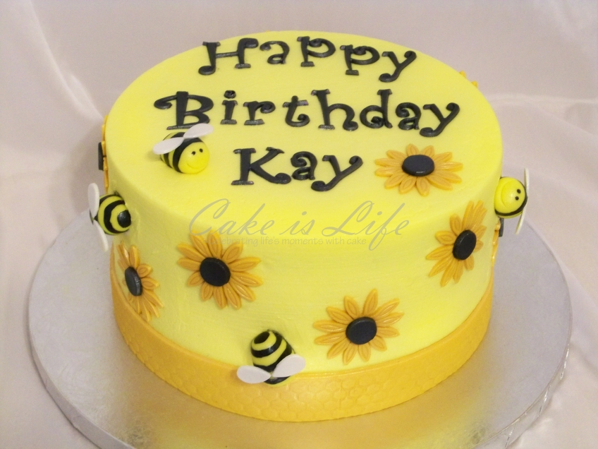 Marvelous Bumblebee Birthday Cake Cake Is Life Personalised Birthday Cards Paralily Jamesorg