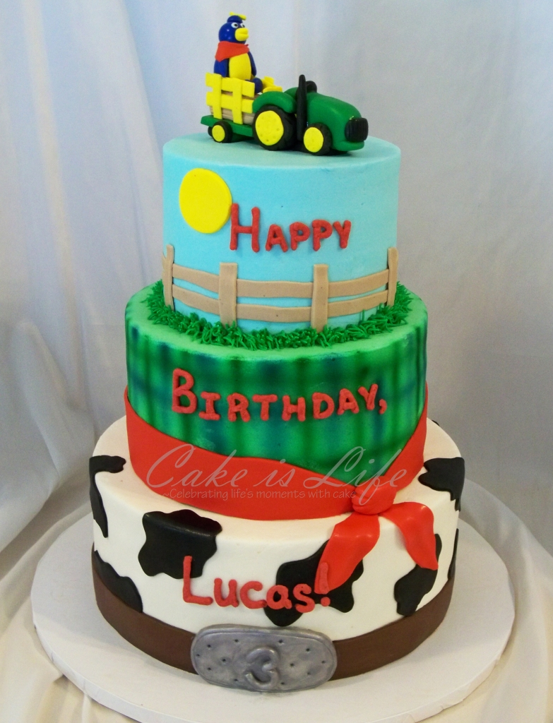 Enjoyable Farm Themed Birthday Cake Cake Is Life Funny Birthday Cards Online Sheoxdamsfinfo