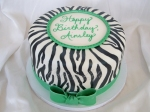 Zebra and Lime Green Cake
