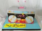 1980s Boombox Cake