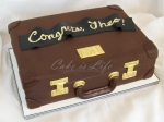 Briefcase Graduation Cake