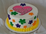 1960s Themed Birthday Cake