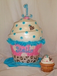 Giant Cupcake 1st Birthday Cake