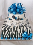 Zebra 16th Birthday Cake