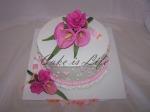Pink Flowers Wedding Shower Cake