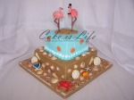 Beach Wedding Shower Cake