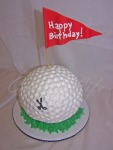 Golf Ball Birthday Cake