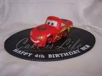 3-D McQueen Birthday Cake