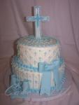 Blue Baptism Cake