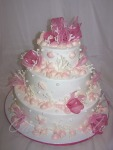 Pink Shells Wedding Cake