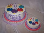 Baby Einstein 1st Birthday Cake (v. 1)