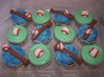 Ball & Bat Cupcakes