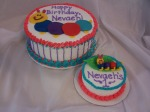Baby Einstein 1st Birthday Cake (v. 2)