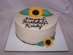 Sunflower Birthday Cake