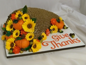 Cornucopia Thanksgiving Day Cake