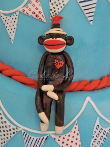 Close-up of the Sock Monkey